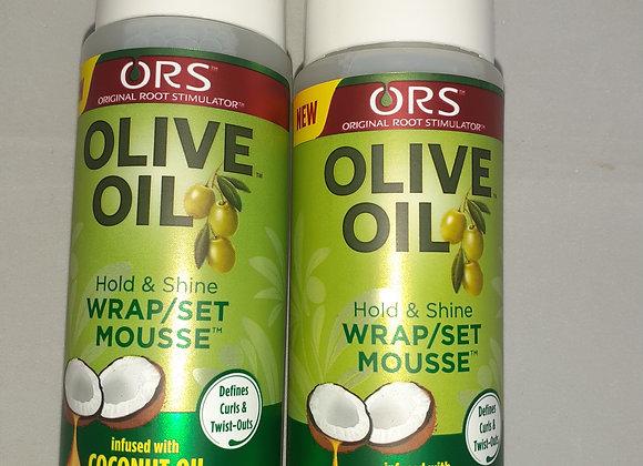 Olive oil wrap/set mousse