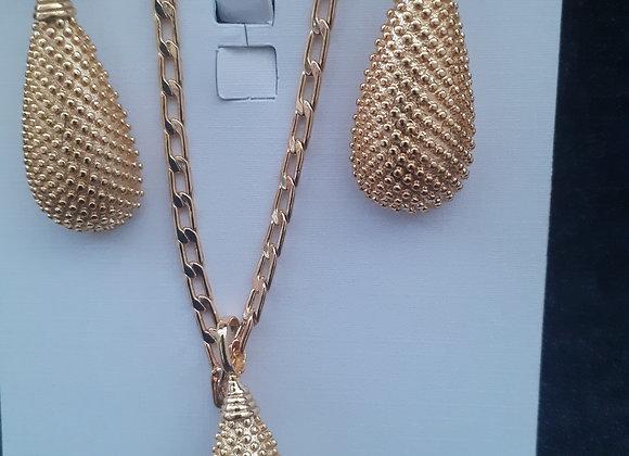 Gold plated ladies jewellery set