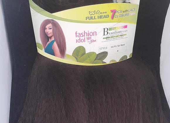 Brazilian hair, 7pcs with free Lace Closure