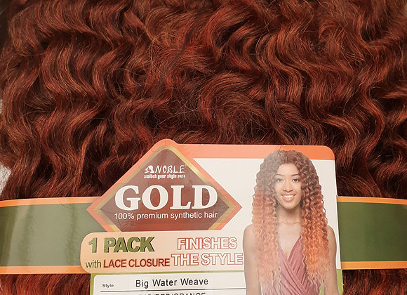 Golden hair with free Lace closure