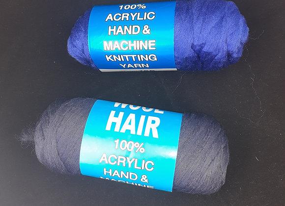 Brazilian wool colour blue