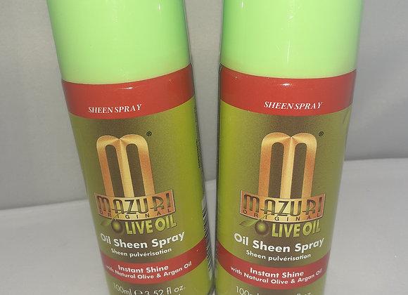 Mazuri Olive Oil sheen spray.