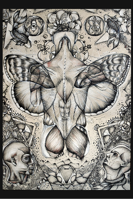 Moth Man Art Print