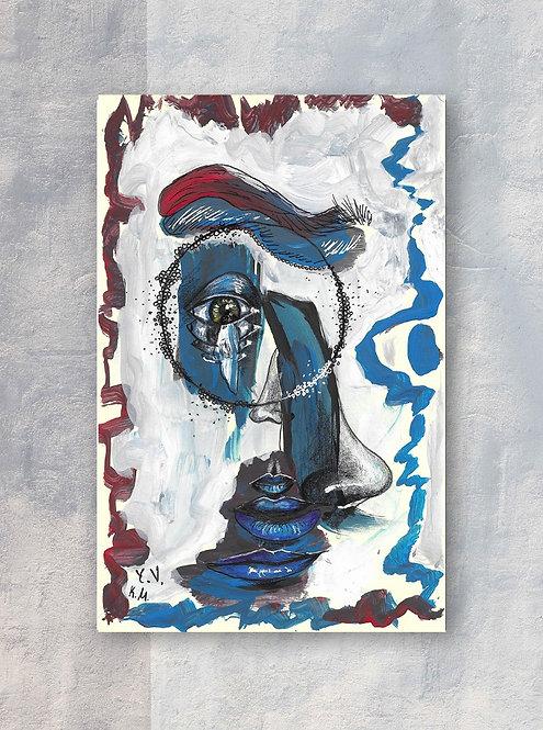 Blue Dreams Folded Greeting Card