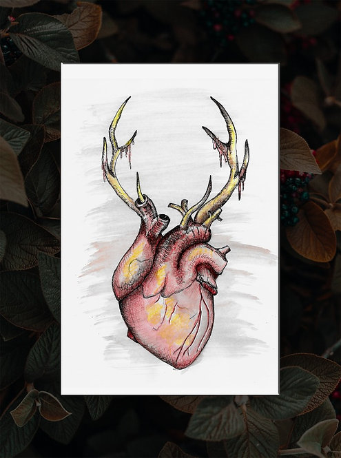 Horny For You Card or Art Print
