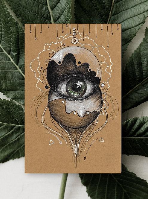 Eye Globes Folded Greeting Card