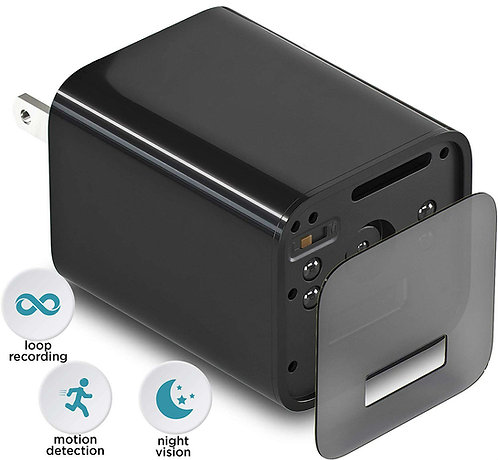USB Phone-Charger Camera - 1080p HD Hidden Camera