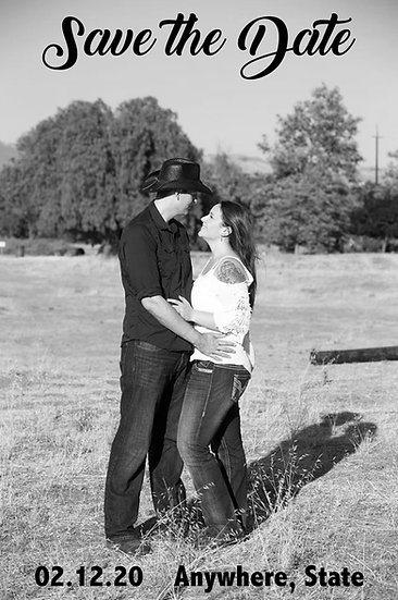 Black and White Photo Save the Date
