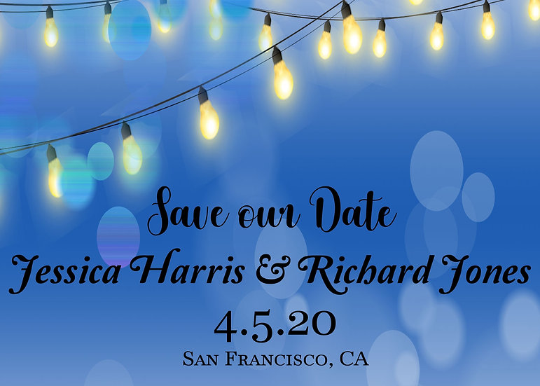 Blue Lights Save the Date