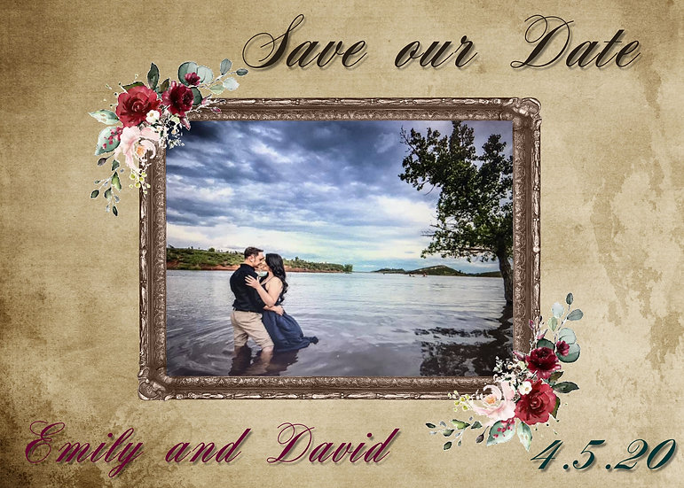 Photo Frame Save the Date