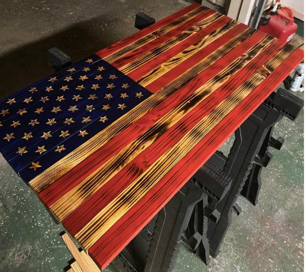 Wood American Flag (small)