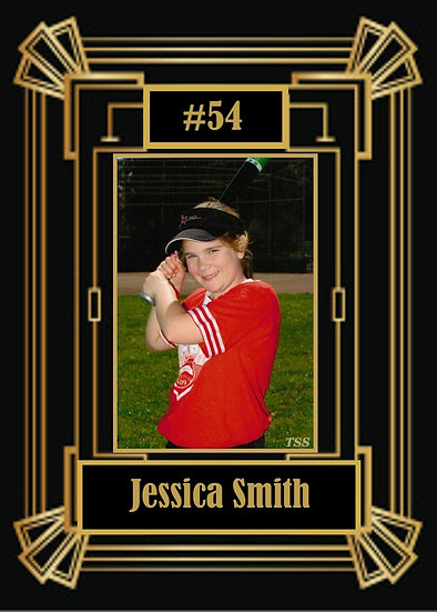 Gold and Black Sport Card