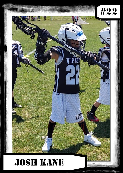 Black and White Lacrosse Sports Card
