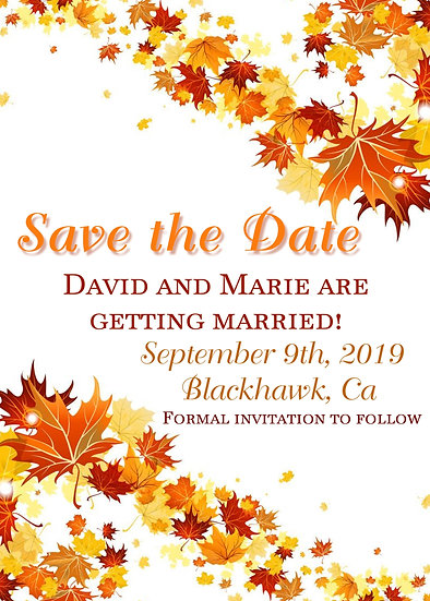 Autumn Save the Date