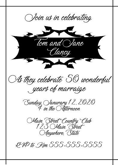 Black Box Anniversary Invitation