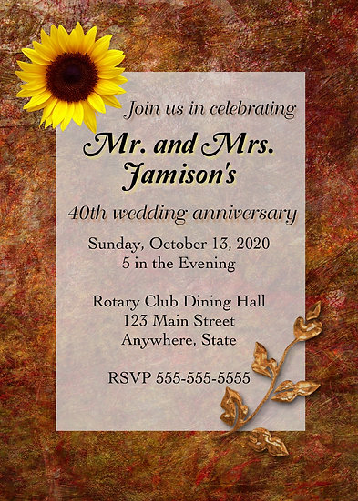 Fall Anniversary Invitation