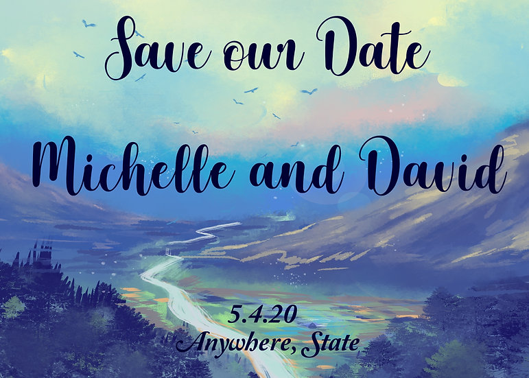 Watercolor Valley Save the Date