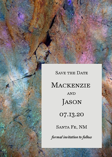 Multicolor Marble Save the Date