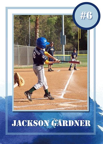 Blue Watercolor Sport Card