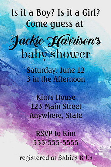 Pastel Watercolor Baby Shower