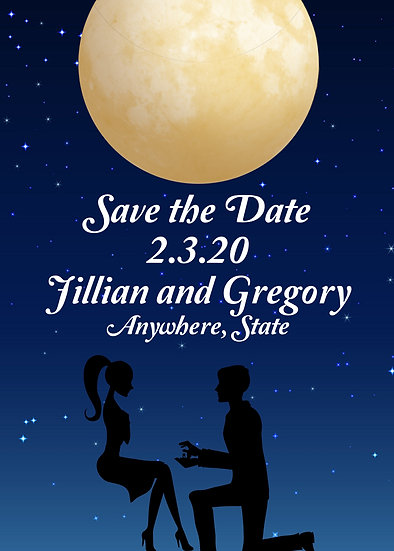 Nighttime Save the Date