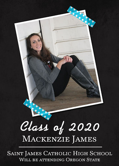 Chalkboard Graduation Announcement