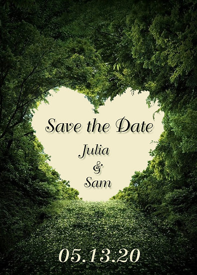 Leafy Heart Save the Date