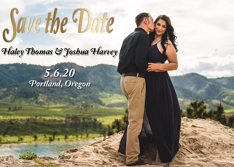 Single Photo Save the Date