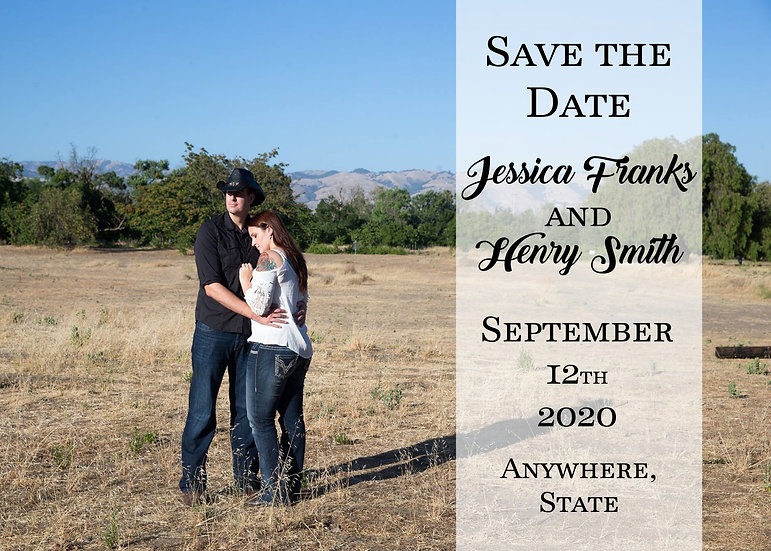 Picture Save the Date Strip