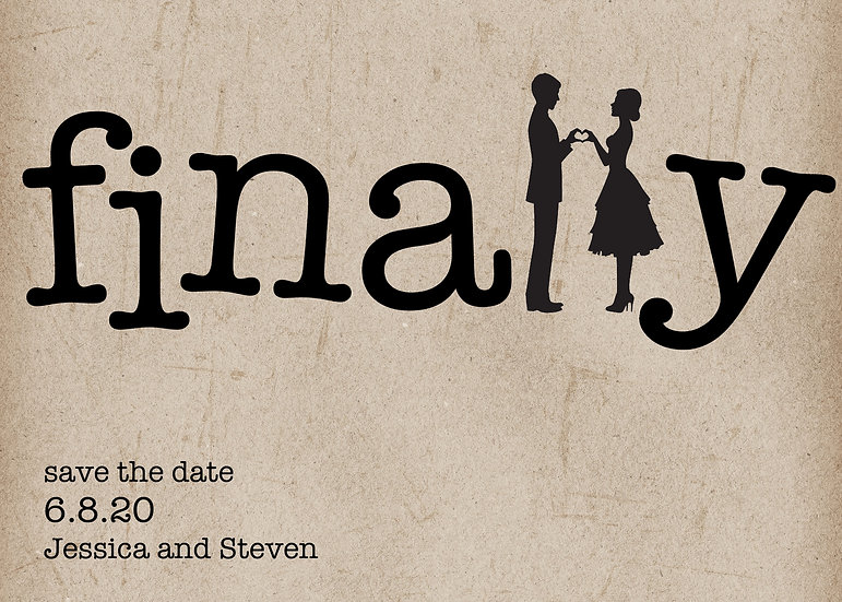 Finally Save the Date