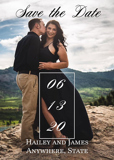 Single Picture Date Box Save the Date