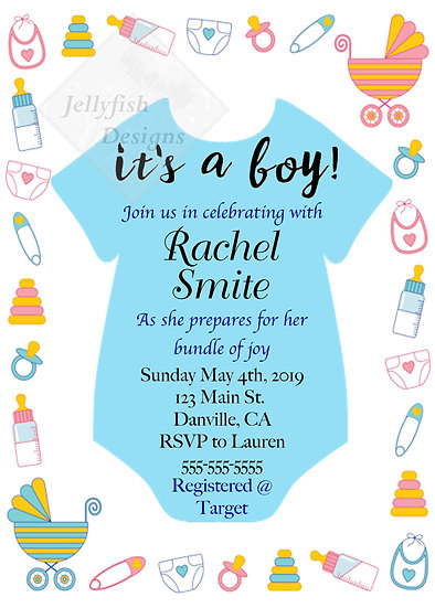 Baby Shower Onsie Invitation