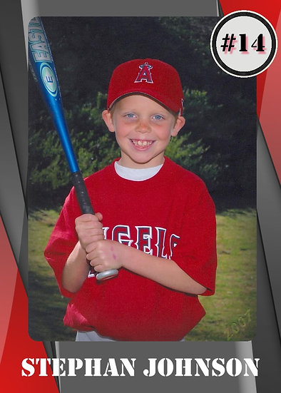 Red and Grey Sport Card