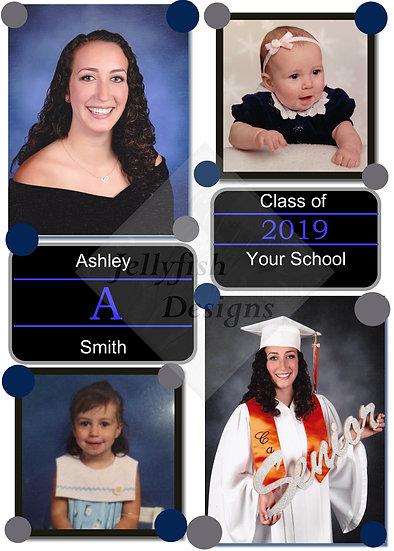 4 Photo Dots Graduation Announcement