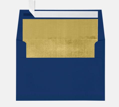 Navy Foil Lined Envelope