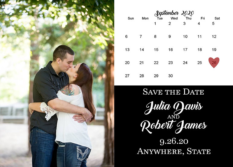Calendar Picture Save the Date