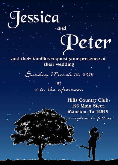 Night Sky Wedding Invitation Package