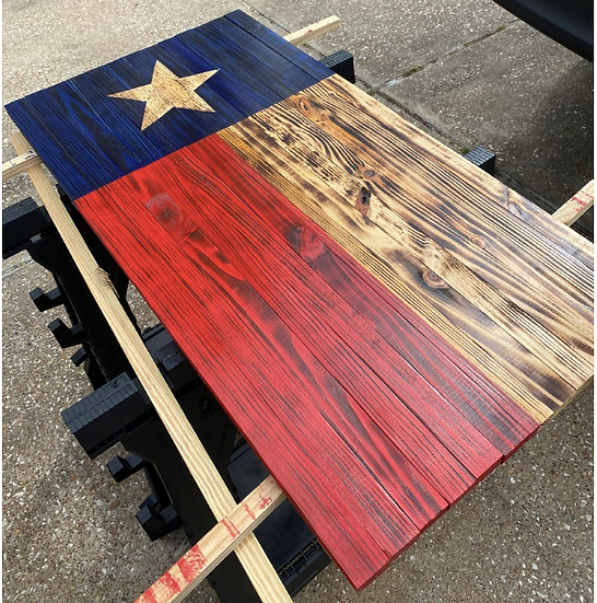 Texas Rustic Wood Flag (large)