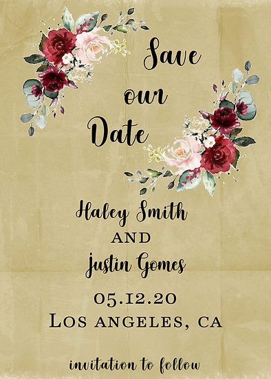 Flower Save our Date