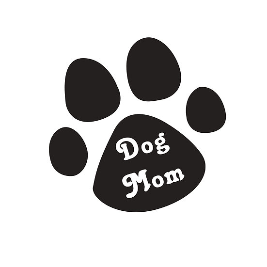 Paw Print Dog Mom Decal