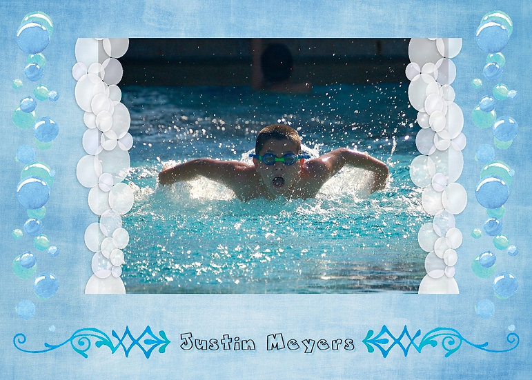 Swim Team Sport Card
