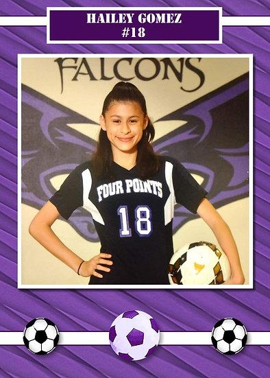 Purple Soccer Sport Card