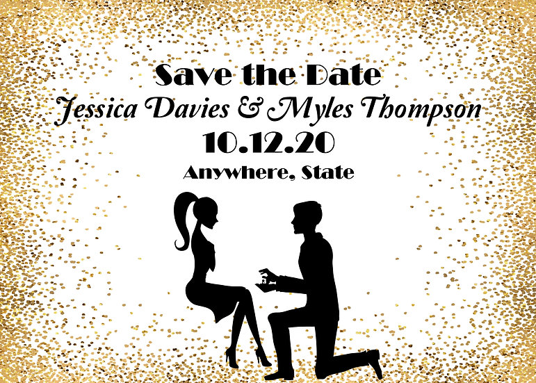 Gold Silhouette Save the Date