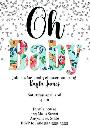 Oh Baby Invitation