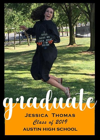 Single Photo Graduation Announcement