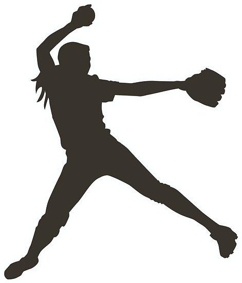 Baseball/Softball Player Decal