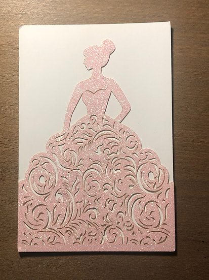Ball Gown Invitation Insert