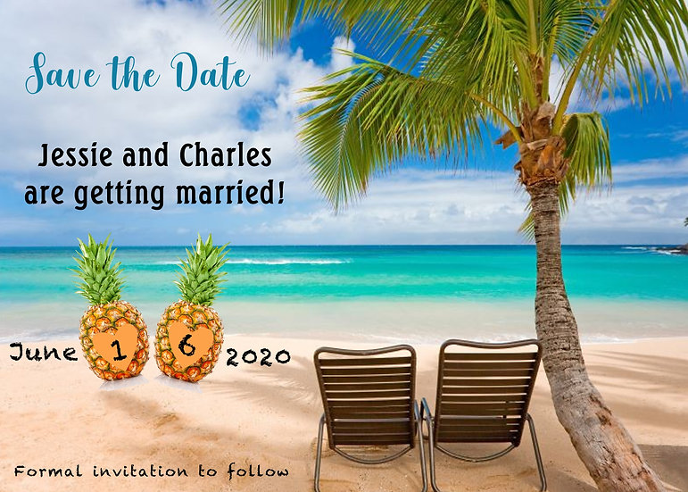 Pineapple Beach Save the Date