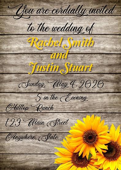 Wood Sunflower Wedding Package