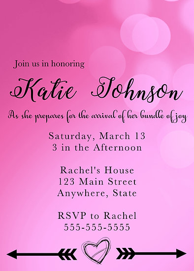 Bright Pastel with Arrows Baby Shower Invitation